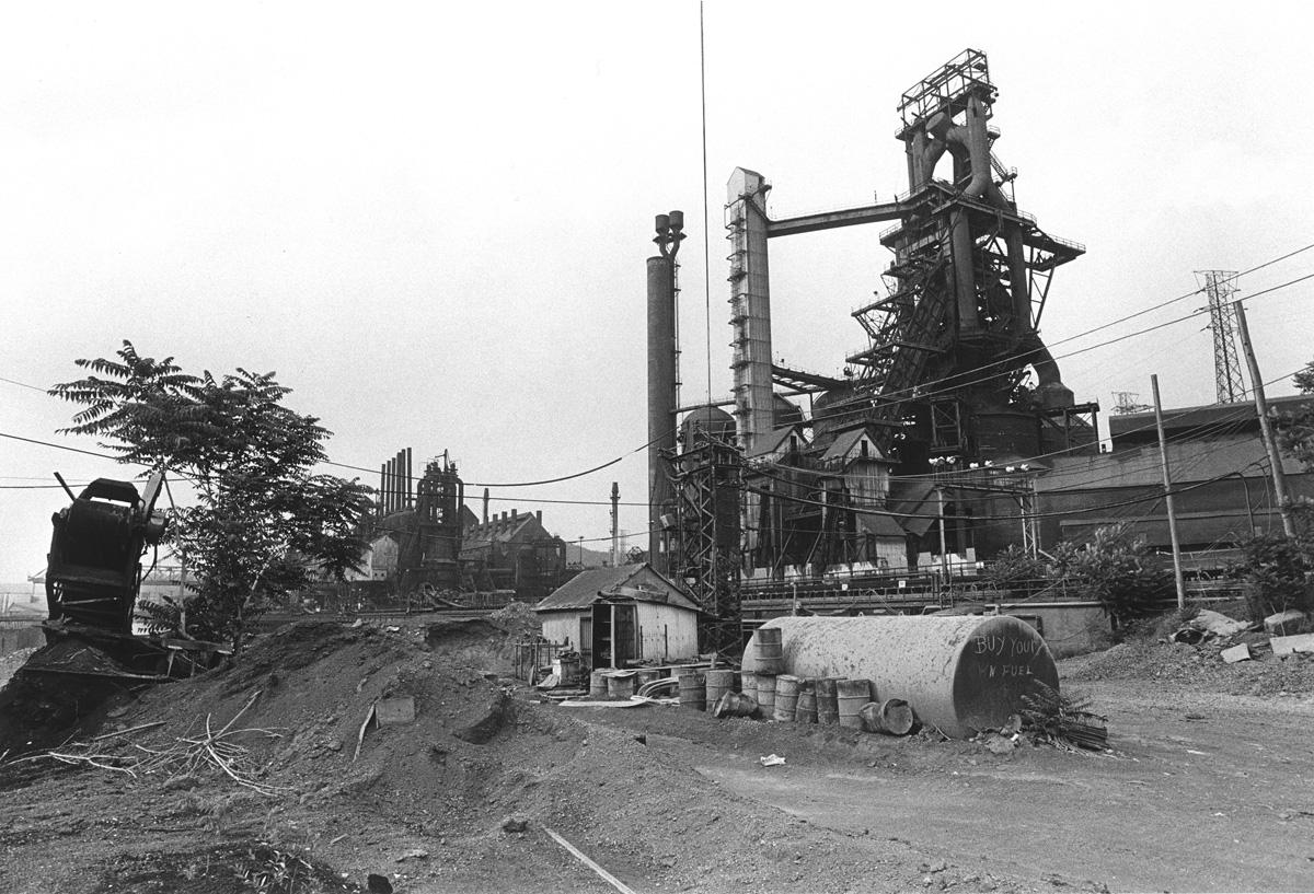 "U.S. Steel Corp., ""Dorothy Furnace,"" Duquesne Works, Duquesne, PA, 1985-87, Archival Digital Print, 17"" x 22,"" 2008"